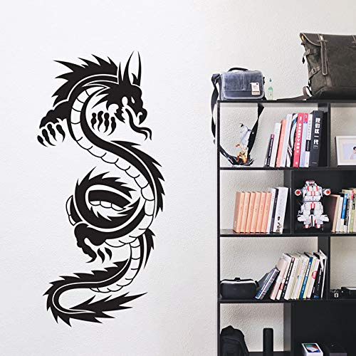 WWYJN Dragon Vinyl Art Wall Stickers Mural Poster Living Room Decoration Bedroom Decal Chinese Dragon Decor  57X122CM