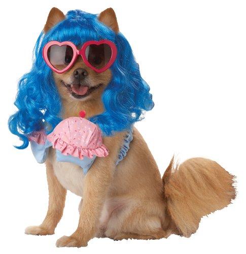 Mädchen Cupcake Kostüm Das - Pup-A-Razzi Cupcake Girl Mädchen Hund Kostüm, blau/pink