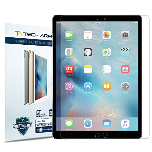 Tech Armor Tech Armor Apple iPad Pro / iPad Pro High Defintion Clear Screen Protectors Maximum Clarity [2Pack] Lifetime Warranty