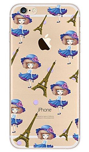 iPhone SE Hülle Silikon,iPhone SE Hülle Transparent,iPhone SE Hülle Glitzer,iPhone 5S Clear TPU Case Hülle Klare Ultradünne Silikon Gel Schutzhülle Durchsichtig Rückschale Etui für iPhone 5,iPhone 5S  Flamingo 15