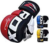 RDX MMA Handschuhe Profi UFC Kampfsport Sparring Freefight Sandsack Trainingshandschuhe Grappling Gloves