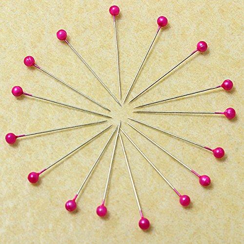 Pangun 800pcs tondo perle spilli con testa abiti sposa corpetto cucito pin-rosa