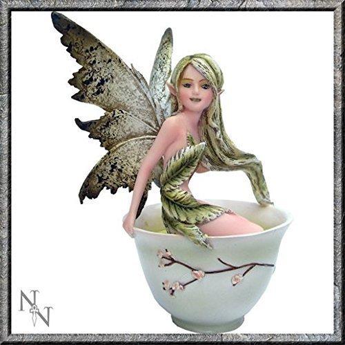 Amy Brown, Nemesis Now - Fatina del tè verde in tazza da tè, lunghezza 15 cm, colore: marrone