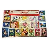 Briefmarken-Sammlung, weltweit, Blumen/Flora/Fauna–100verschiedene Briefmarken, Souvenir, Sammlerstücke, Briefmarken aus der ganzen Welt, Briefmarken