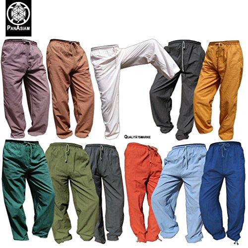 Panasiam *E*-Pants, Stoffhose für denn Alltag, Sport, Yoga, Jogging u.v.m., für GROßE Menschen ab 1,80m !! Aus 100%B.wolle Braun