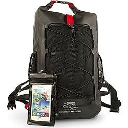 Cougar Outdoor Waterman Sac à dos étanche et solide de plein air–Grand sac de 40 L, le meilleur pour la randonnée, le kayak et les sports nautiques