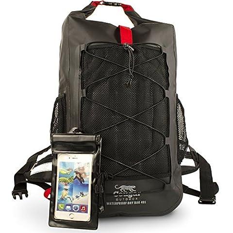 Cougar Outdoor 'Waterman' Waterproof Backpack, Heavy Duty Dry Bag Rucksack – Large 40L Sack, Best For Hiking, Kayaking and