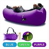 Aufblasbares Sofa DasMeer Aufblasbare Liege Air integriertem Kissen Couch Stuhl, tragbare Kompression Air Tasche für Sommer Camping Strand Pool (Lila)
