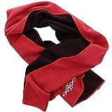 XiRRiX–Sport Fitness asciugamano con Cool effetto termica–raffreddamento in un attimo–100x 30cm–nero/rosso