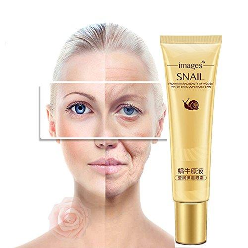 Gaddrt Eye Cream Lumaca Deep Moisturizing Eye Cream Anti-Invecchiamento Rimuovere Cerchi Scuri
