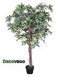 Ahorn Ahornbaum Kunstpflanze Kunstbaum Künstliche Pflanze 150cm Echtholz Decovego