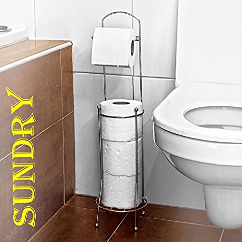 Free Standing 4 Roll Bathroom Toilet Paper Tissue Dispenser Storage Holder Stand - High Quality Tissue Storage Stand - Holds Up To Four