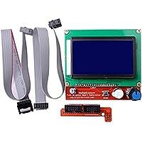 Hosaire 1 x 3D-Drucker-Teile & Zubehör 3D-Drucker Smart Controller RAMPS 1.4 LCD 12864 LCD-Bedienfeld 3D-Drucker-Zubehör
