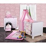 Babyzubehör in verschiedenen Ausführungen, Motiven und Farben, Farbe:Rosa;Motiv:Kleine Prinzessin;Babyartikel:Nestchen