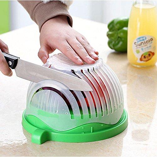 Maknoe 60 Seconds Salade Maker Coupe-Couteau Trancheur Facile à faire Healthy Fresh Salad Slicers
