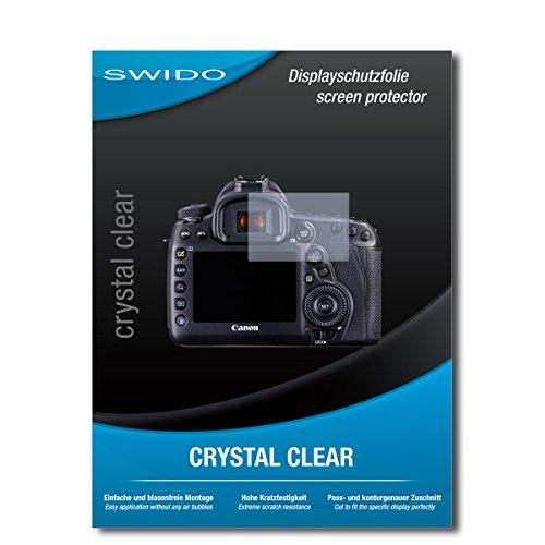SWIDO Schutzfolie für Canon EOS 5D Mark IV [2 Stück] Kristall-Klar, Hoher Härtegrad, Schutz vor Öl, Staub und Kratzer/Glasfolie, Displayschutz, Displayschutzfolie, Panzerglas-Folie