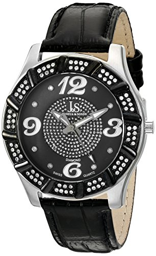 Joshua Sons Homme JS-17-SS Swiss Quartz Diamant Montre