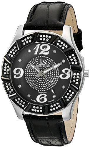 Joshua & Sons Hombres JS-17-SS suizo de cuarzo diamond reloj