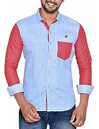 PP Shirts Men Sky Blue Coloured Shirt