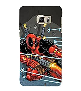 EPICCASE Superhero in Action Mobile Back Case Cover For Samsung Galaxy Note 5 Edge (Designer Case)