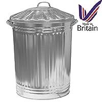 Srendi® 90 Litre Galvanised Metal Dust Bin