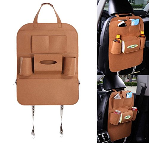 Preisvergleich Produktbild Back Seat Car Organizer, Silence Shopping Multi-Pocket Travel Lagerung Auto Sitz Rücken Tasche (braun)