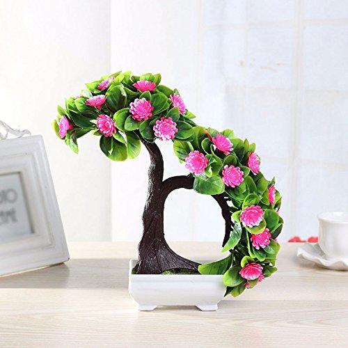 GBHNJ Artificial Flower GBHNJ Faux Fleurs Cadeau Table Basse Gala Simulation Plantes En Pot Decoration Plastique Plantes Acacia Pink