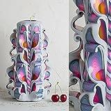 Candela per Compleanno Arcobaleno e Bianco, Ornamento Fatto e Decorato A Mano, Decorazione Gay Pride, Regali LGBT - EveCandles