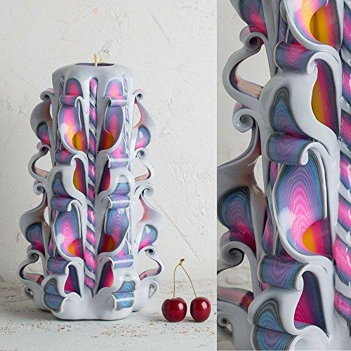 Soja-wachs-körper-massage-kerze (Geburtstagskerzen, geschnitzte Kerzen, weiße Regenbogen-Kerze, dekorative Kerzen - handgemachte EveCandles)