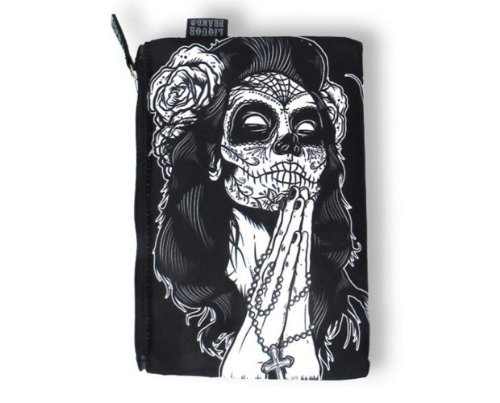 Cultures brand-nord rockabilly fermeture portefeuille gypsy trousse rose (noir)