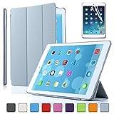 Besdata® Apple iPad Smart Housse de protection en polyuréthane avec Coque arrière pour IPad Air, Gris - PT4108