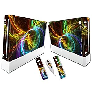 Linyuan Gaming Console & Controller Skin Sticker Decal A0241* fur Nintend Wii