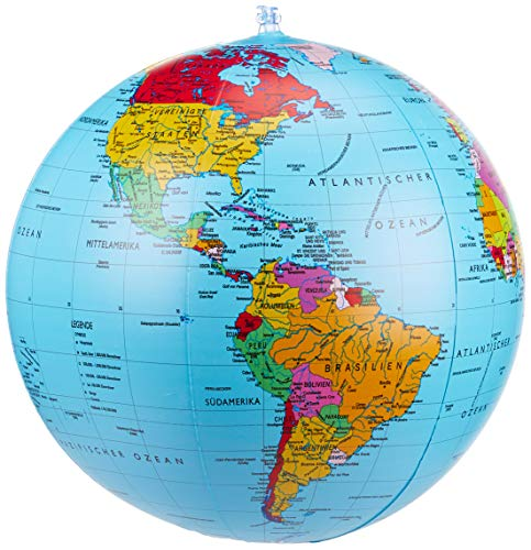 Politischer Globus aufblasbar, 40 cm Durchmesser