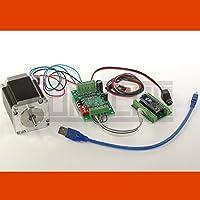 CNC USB 1D Controller del motore passo-passo Linion con Software, alimentatore, NEMA 23 motore (3,0 A) e finecorsa meccanico