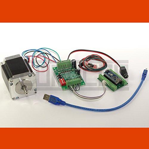 CNC USB 1D Schrittmotor-Steuerung Linion mit Software, Netzteil, NEMA 23 Motor (3,0 A) und mechanischem Endschalter