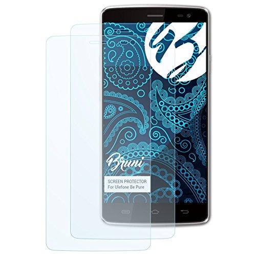 Bruni Schutzfolie kompatibel mit Ulefone Be Pure Folie, glasklare Bildschirmschutzfolie (2X)