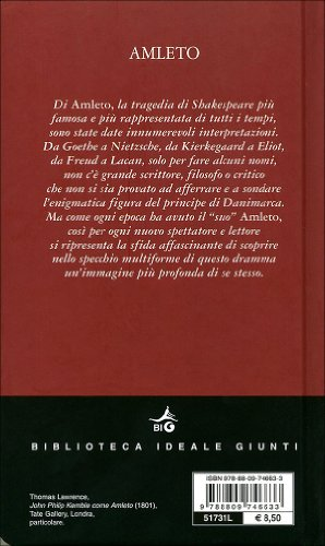 hamlet testo a fronte  Libro Amleto.Testo inglese a fronte di William Shakespeare