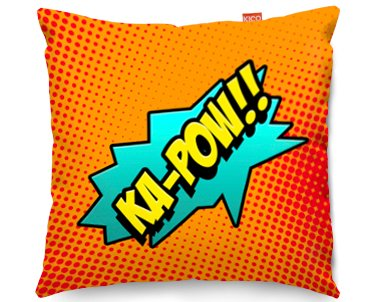 Comic KA-POW Childrens Funky Sofa Cushion - (80x80cm) Large