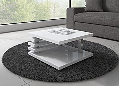 Coffee Table Oslo 60 x 60 cm (White High Gloss)