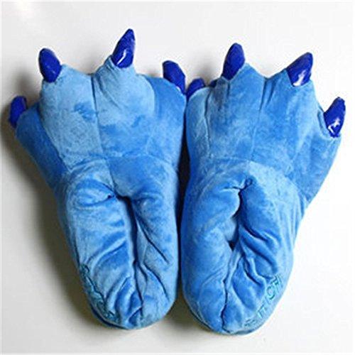hippolo fashionfits Unisex Weich Plüsch Home Hausschuhe Tier Kostüm Paw Claw Schuhe blau (Runde Letzte Kostüme)