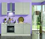 Küchenblock mit Glaskeramikkochfeld Como 210 cm in Pinie Nachbildung