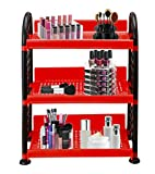 Oren Empower Np Sunny Pet Multipurpose Combo Rack 3 For Kitchen/Office/Bathroom/Cosmetic/Stationary Storage (Red-Black)