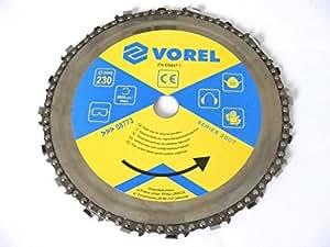 Lame de scie à chaîne pour meuleuse d'angle - Ø 230 mm