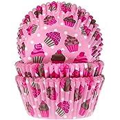"""Muffinförmchen, mit Aufdruck """"rosa Cupcakes"""", 50 Stück - Papierbackförmchen"""