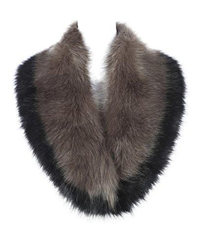 Jackenkragen in schwarz Mantelkragen Fellkragen aus Plüsch in Gr S