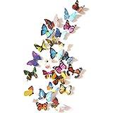 RKPM 3D Butterfly Wall Stickers Multi 24 Pcs