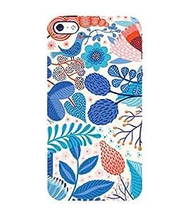 PrintVisa Designer Back Case Cover for Apple iPhone 4S (Artistic Floral Pattern)