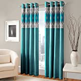 #6: Homesazz Floral Print Design Ethnic Window Curtains-Set of 2