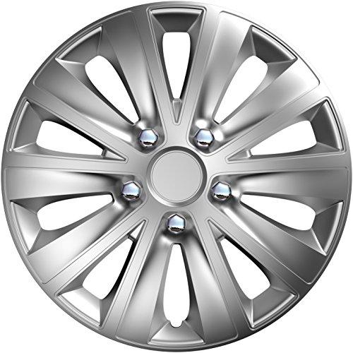 CM DESIGN 14 Zoll Rapide NC Silber, passend für Fast alle Mazda z.B. für 2 DY