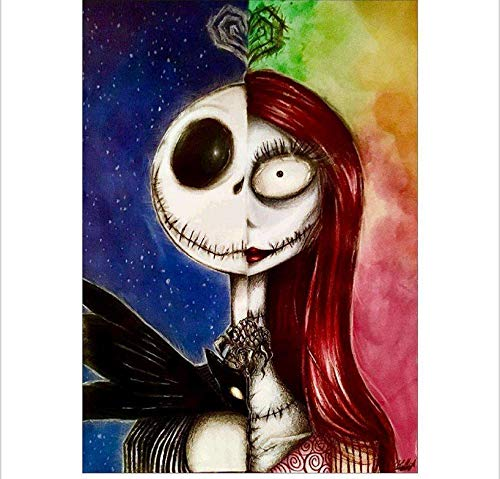 tianmaxingkong DIY Diamond Painting Halloween 5D Full Diamond 30X40Cm (Malvorlagen Disney Halloween)